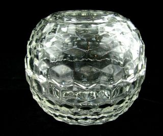 Fostoria American Glass Crystal Fairy Lamp Votive Candle Holder