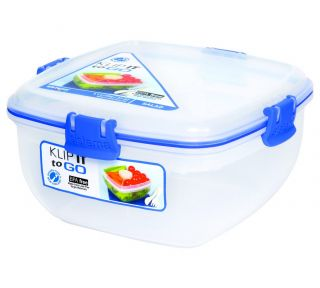 Klip It Salad to Go Food Storage Container Lunch Box Plastic
