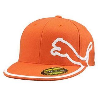 New Puma Rickie Fowler Monoline Flat Bill Orange Fitted Youth Hat Cap