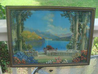 Atkinson Fox Vintage Blue Lake Beautiful Framed Print