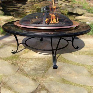 Wood Burning Fire Pit Grill, Spark Screen Protector, Cover, Grate