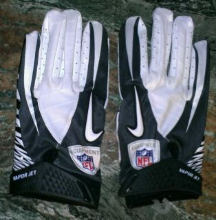 Football Gloves Black Gray White Adult Size XL NFL Equipment