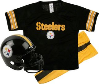 Pittsburgh Steelers Kids Youth Football Helmet Uniform Set