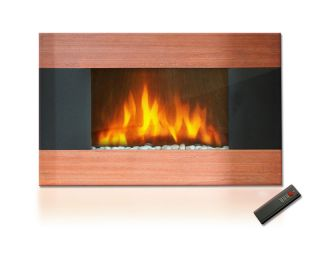 GTC Wall Mounted Electric Fireplace firebox Control Remote Heater I510