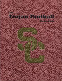 1997 USC Trojans Football Media Guide EX