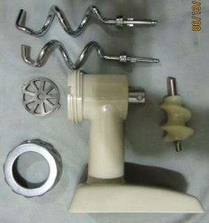 Oster Food Grinder Head 954 16A Kitchen Center Mixer Dough Hooks Mint