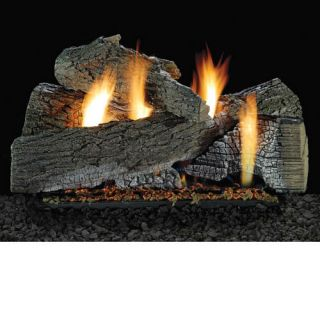 Wildwood Vent Free Propane Natural Gas Ventless Fireplace Logs Remote