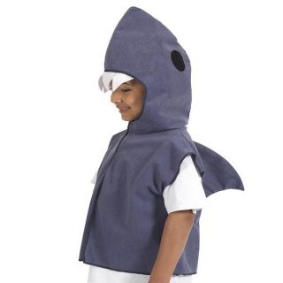 Boys Girls Kids Shark Jaws Fish Fancy Dress Costume