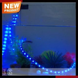 Aquarium Pet Fish Tank Decoration 100cm Waterproof Blue New LED Light