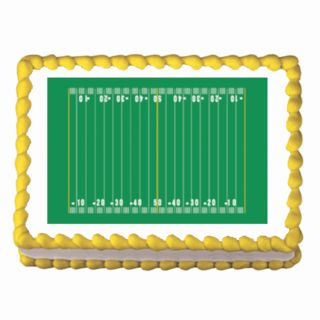 NFL Football Field Edible Cake Topper Decoration Image