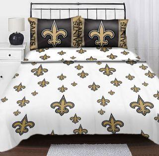 ORLEANS SAINTS Logo TWIN SHEET SET   Football Sheets Sports Bedding