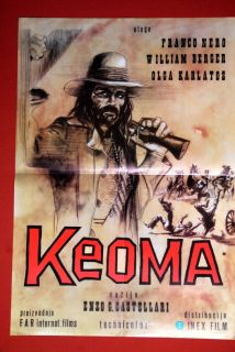Keoma Franco Nero Western 1976 RARE EXYU Movie Poster