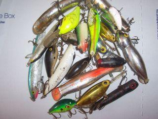 20 beater fish tackle box fishing crankbait lures Rapala Storm Manns