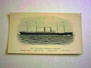 STAR LINE EARLY STEAMSHIP TRADE CARD FROM FISHKILL ON HUDSON, NEW YORK
