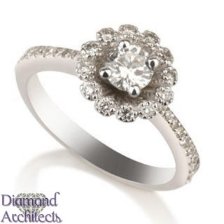DIAMOND RING 0.67 CT G DIAMOND SOLITAIRE PROPOSAL RING WHITE GOLD 14K