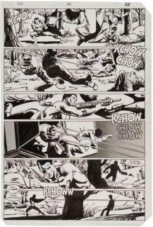 Frank Miller Original Art Daredevil #182 Punisher at War page 25