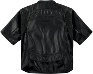 Icon Mens 1000 Shorty Jacket Leather Jacket Black D30 CE Back