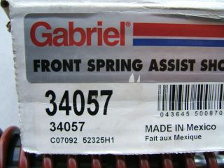 Gabriel 34057 Front Heavy Duty Overload Shocks w Helper Coil Springs