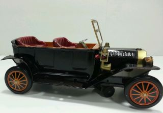 Vintage Battery Operated Tin Model A Ford Toy Car