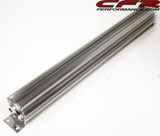 Aluminum 24 Finned Transmission Cooler Dual Line Trans