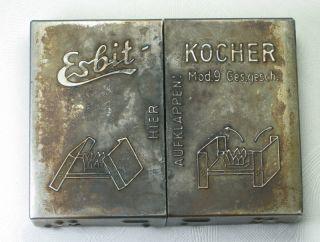WWII German Military Esbit Kocher Folding Field Cook Stove & Heatabs