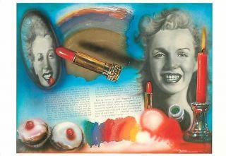 Marilyn Monroe by Audrey Flack Art Postcard