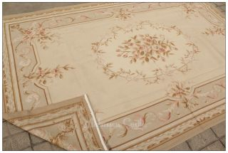 6x9 French Pastel Style Aubusson Area Rug Free SHIP Country Home Decor