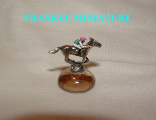 NEW FRANKEL UK MINIATURE FIGURINE HAND PAINTED HORSE RACING JOCKEY
