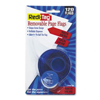 120 Redi Tag Arrow Message Flags Dispenser Sign Here