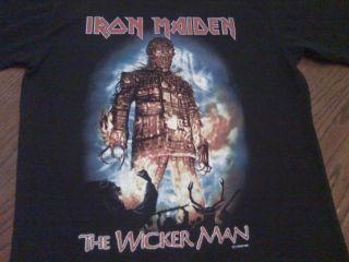 Vintage Iron Maiden The Wicker Man Concert T Shirt XL
