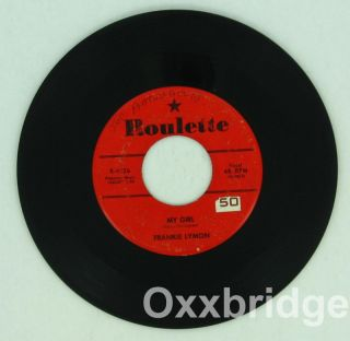 Frankie Lymon So Goes My Love Girl Roulette Original Doo Wop Northern