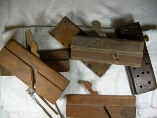Antique Wood Wooden Molding Planes Lot of 6