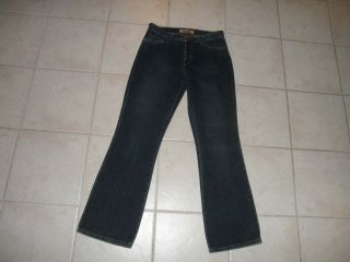 Mavi Womens Molly Flare Jeans Size 31 x 31 Low Rise Button Fly Dark