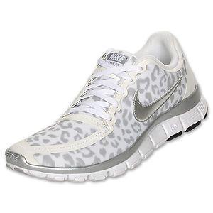 Nike Womens Free 5 0 V4 White Leopard 511281 Size 8