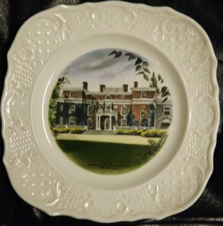 SQUARE PLATE OF FRANKLIN ROOSEVELTS HYDE PARK HOME BY DELANO