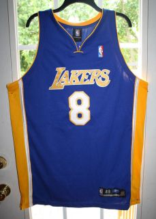 Reebok Kobe Bryant LA Lakers NBA Basketball Jersey sz 48 EUC