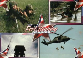 Fort Benning Georgia Home of the Infantry United States Army Postcard