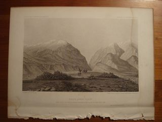"1861 USPRR Antique Lithograph Print ""Weber Lower Cañon"" Utah"