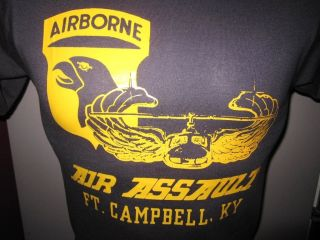 UNWORN AIRBORNE AIR ASSAULT FORT CAMPBELL KENTUCKY MILITARY T SHIRT