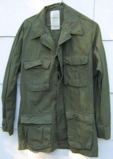 Vietnam Era Jungle Fatigue Shirt, with HORIZONTAL Top Pockets
