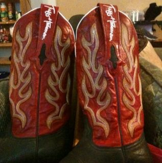 New With Box Lucchese Resistol Ranch Tuff Hedeman Boots Size 7 5 B
