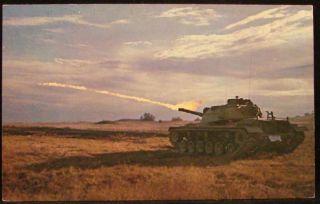Throwing M48 Tank Patton Napalm Fort Knox Kentucky Military Postcard