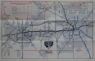 Fort Worth, along with a schedule of fares on the turnpike, which had
