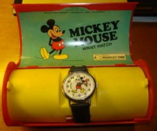 Vintage Bradley Mens Mickey Mouse Watch Mint in Box