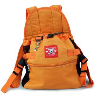 Dog Puppy Pet Front Style Pouch Carrier Backpack Orange