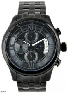 Mens Stainless Steel Black ion Plated Chronograph Watch
