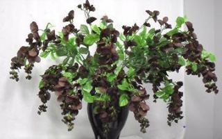 32 in Chocolate Silk Wisteria Bush Artificial Flowers Wedding Plants