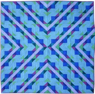 Quilt Top Pattern Hugs & Kisses Baby Throw King Sizes Jewel Tone Tonal