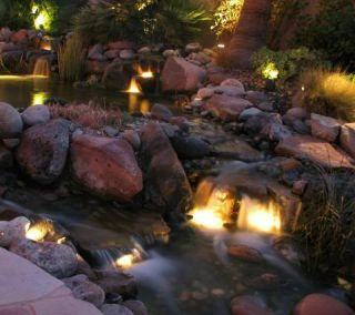 20 Watt Rock Light Set Without Transformer for Koi Ponds and