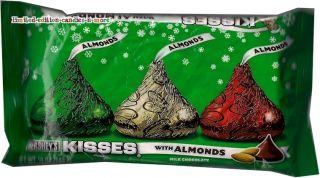 Almond Kisses Milk Chocolate Hersheys Christmas Candy